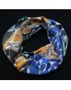 Pack 6 custom printed infinity silk scarves