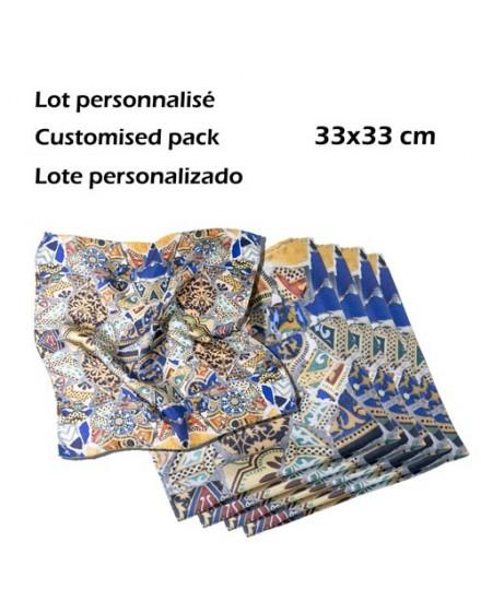 Lote 6 pañuelos bolsillo personalizados en seda - Fibra Creativa 1e057709586a
