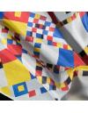 Lote 6 pañuelos de cuello personalizados en seda