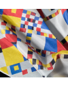 Pack 6 custom printed neck silk scarves
