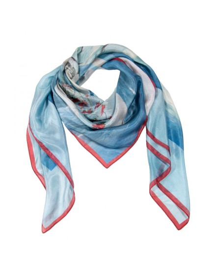 Maxi silk scarf - Florida Seaside 120x120
