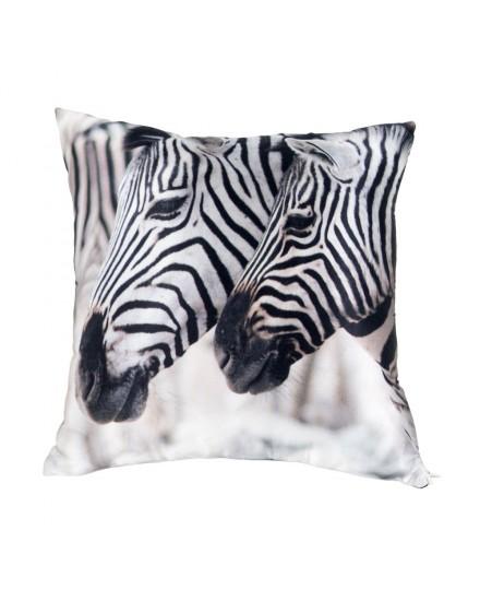 Silk cushion - African zebras