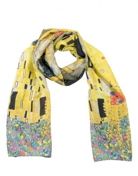 Pañuelo de seda Klimt - El beso