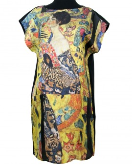 Klimt silk dress - Lady with a fan