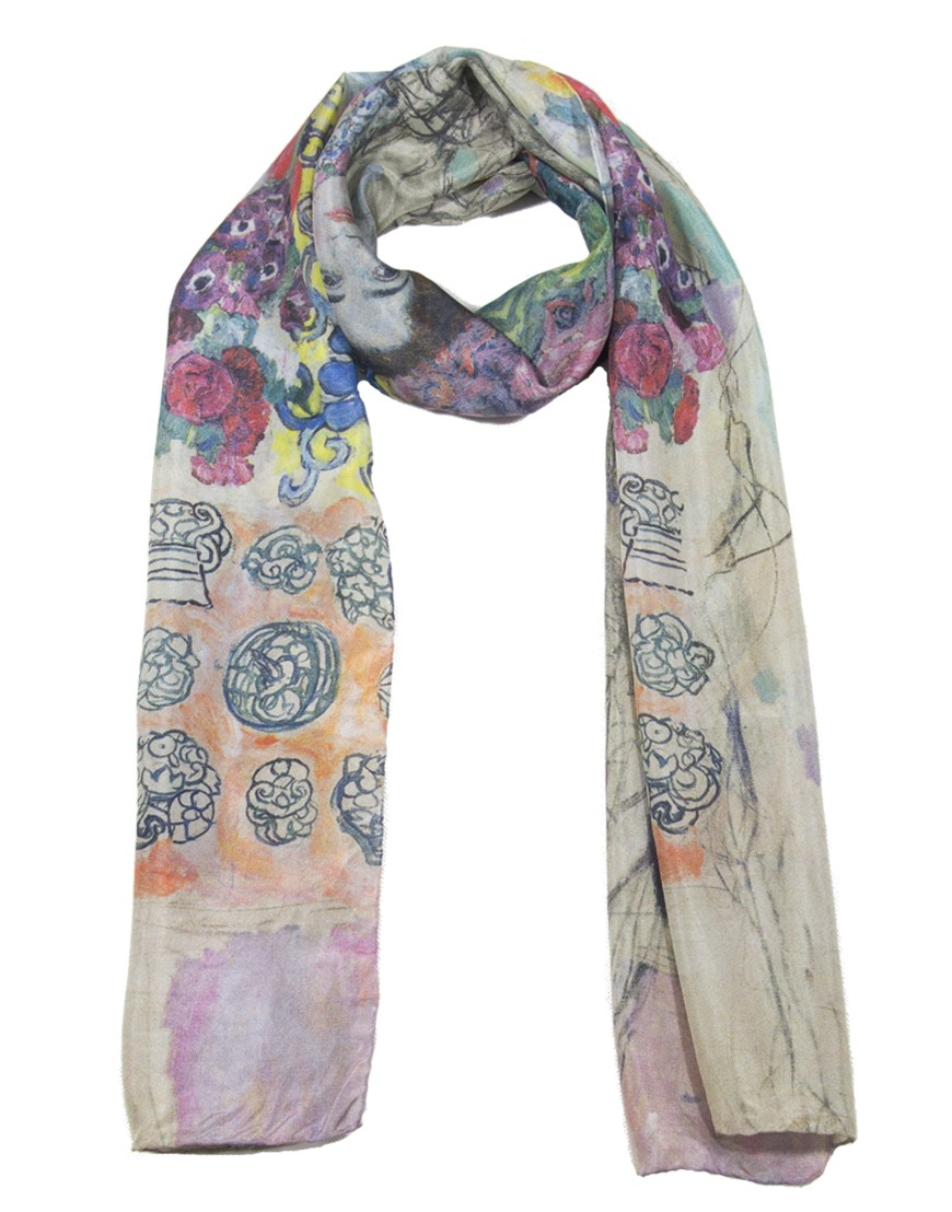 super pas cher Beau design prix incroyable Foulard en soie Klimt - Ria Munk - Fibra Creativa