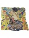 carré en soie Klimt Dame avec un éventail