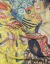 Pañuelo de seda Klimt Dama con un abanico