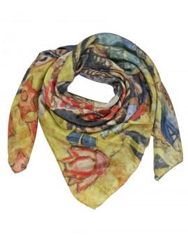 Carré en soie Klimt - Dame avec un éventail