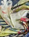Foulard en soie Klimt Dame avec un éventail