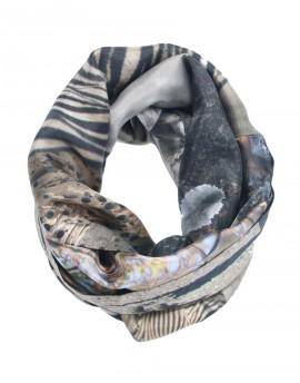 Silk infinity scarf Etosha Zebras