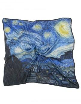 Pañuelo Van Gogh - La noche estrellada - 90x90