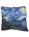 carré femme en soie Van Gogh - La nuit étoilée - 90x90