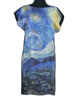 Van Gogh silk dress - Starry night