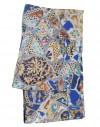 Silk circle scarf Gaudi Guell Park bench