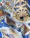 Pañuelo de twill de seda Gaudi banco del Parque Guell