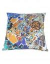 Linen cushion Gaudi mosaic bench 40x40