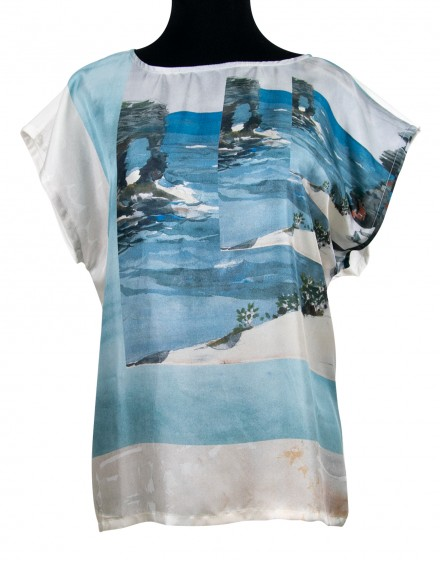Silk and cotton blouse - Florida Searocks