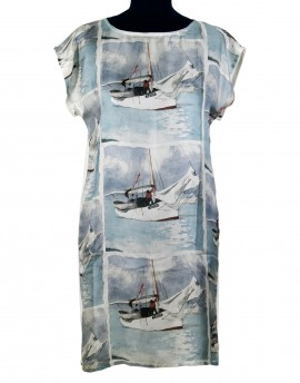 Silk dress Florida sailboats