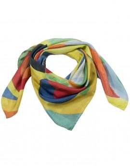 Square silk scarf Delaunay - Joie de vivre 90x90cm