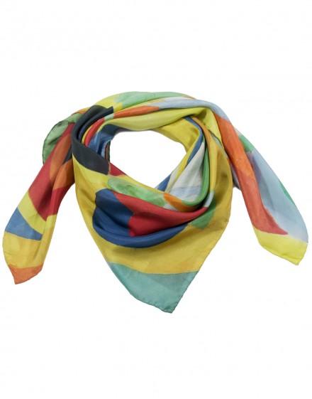 Fular de seda Delaunay - Joie de vivre