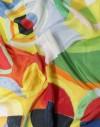 Foulard femme en soie Delaunay - Joie de vivre