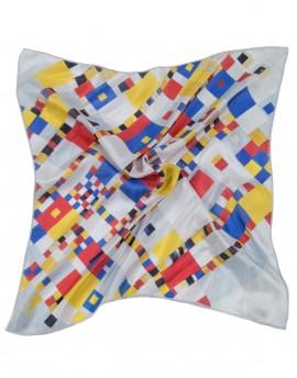 Foulard tour de cou en soie Mondrian - Boogie