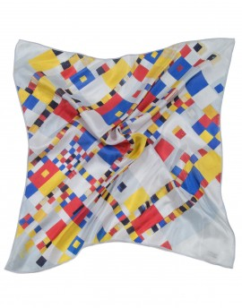 Pañuelo de cuello de seda Mondrian - Boogie