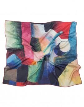 Foulard en soie August Macke - Composition colorée de formes