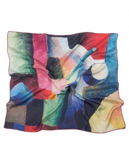 Carré en soie August Macke - Composition colorée de formes 1914