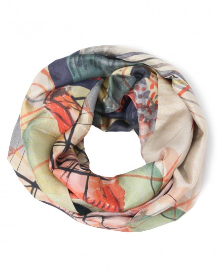 Kandinsky silk infinity scarf - Watercolour 6