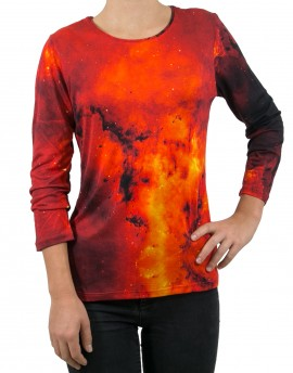 Red Galaxy printed T-shirt
