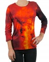 Camiseta estampada Galaxia Roja