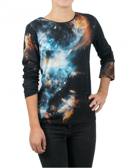 Blue Galaxy printed T-shirt