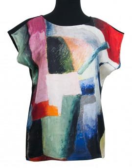 Blouse en soie - Macke Composition colorée de formes 1914