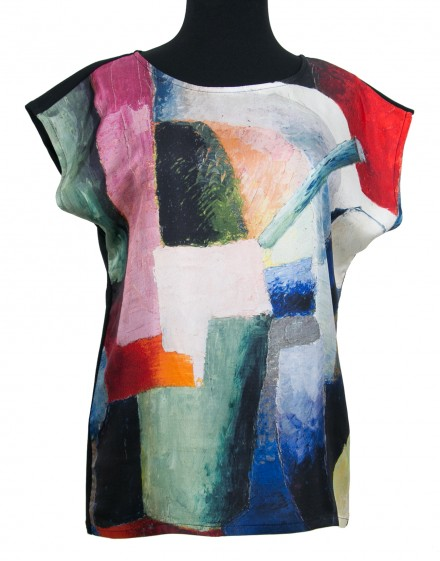 Silk blouse - Macke Colored Composition