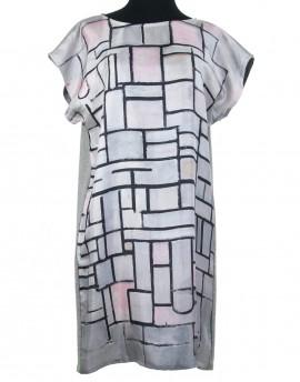 Robe en soie Mondrian - Composition No. 6