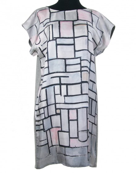 Robe en soie Mondrian - Composition No. 6