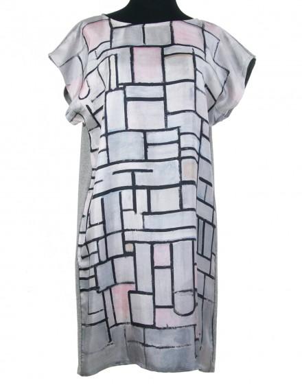 Vestido de seda Mondrian - Composición No. 6