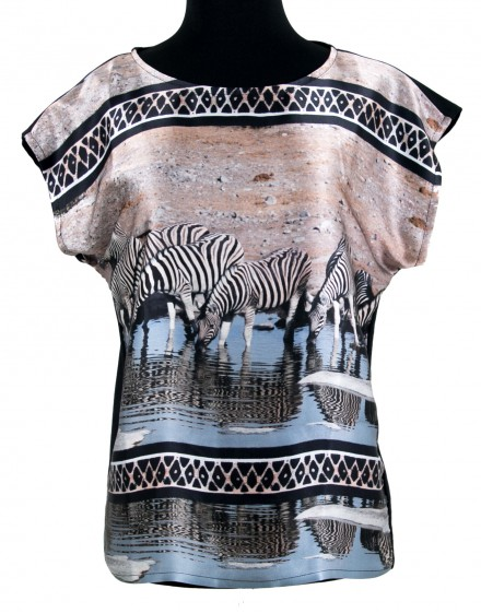 Silk blouse - Zebras