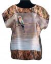 Blusa de seda Okavango pájaro