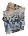 Pañuelo circular de seda Zebras africanas