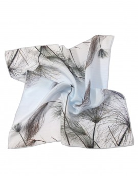 Grey neck silk scarf Papyrus
