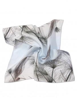 Pañuelo de cuello gris de seda Papiro