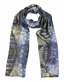 Men silk scarf Van Gogh - Starry night