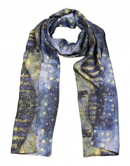 Men silk scarf Van Gogh - Starry night