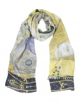 Klimt silk scarf - Water snakes