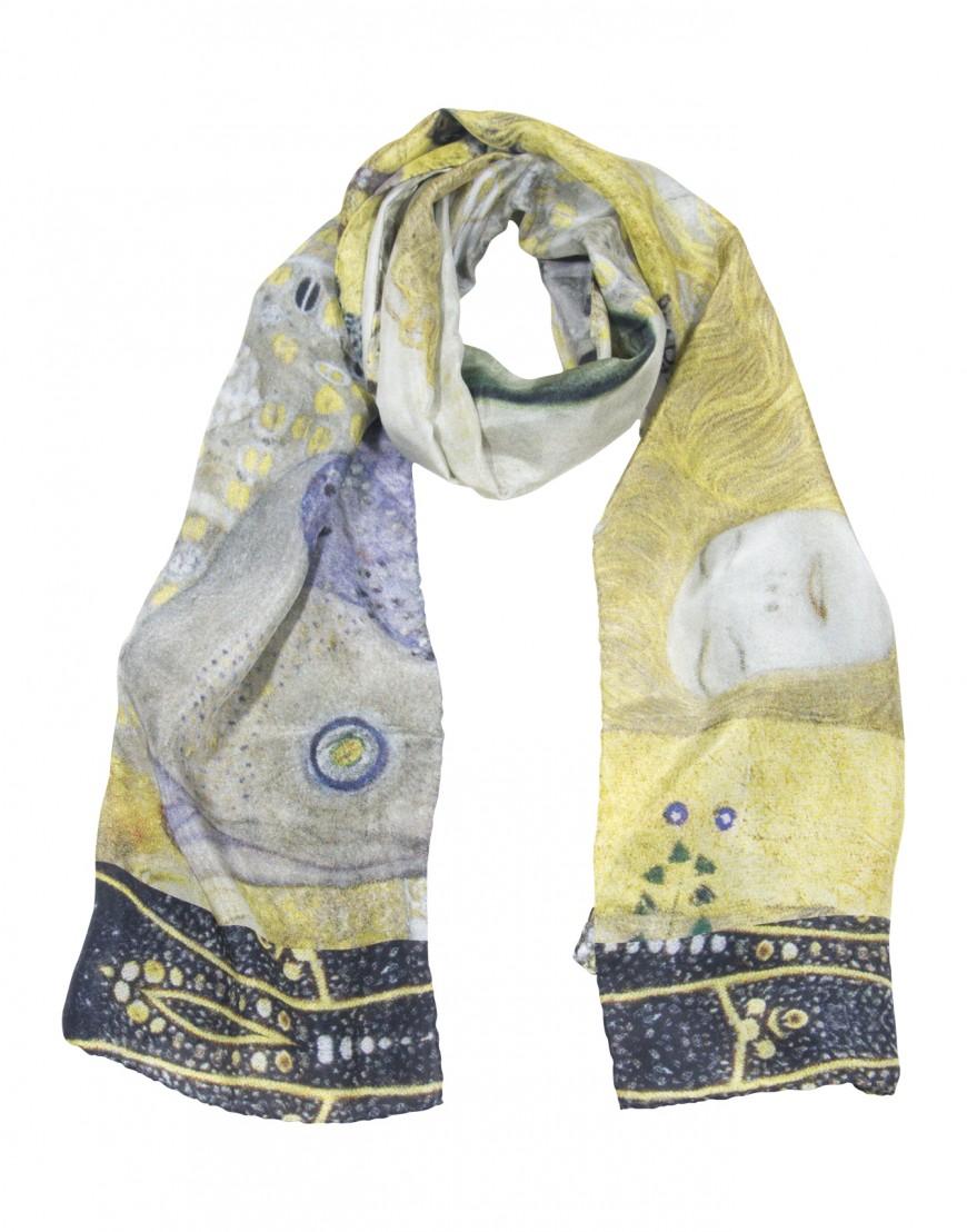 Foulard en soie Klimt - Hydre II - Fibra Creativa 03a8eb2af96