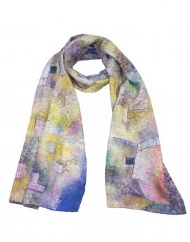 Foulard en soie Klee - Jardin oriental 45x180 cm
