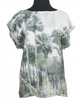 Silk and cotton blouse - Florida Jungle