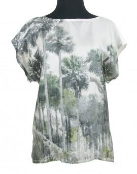Silk and cotton blouse - Florida Jungle